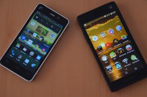 2 Handys mit Apps
